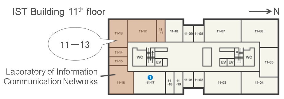 Hokkaido University IST Building 11F floor map